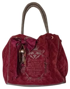 Juicy Couture Burgundy Travel Bag