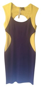 Saks Fifth Avenue short dress Yellow and Purple on Tradesy