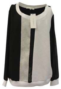 Sandro Top Black Silver and White