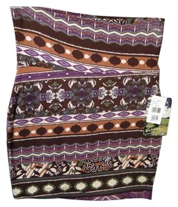 Lily White Mini Skirt multi