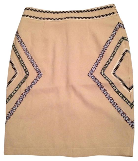 Evette & K Pencil Skirt Cream