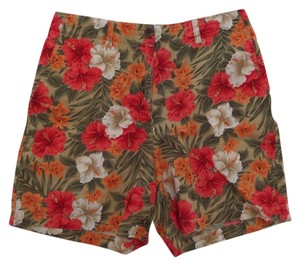 Jones New York Casual Shorts Multi Color Floral Print