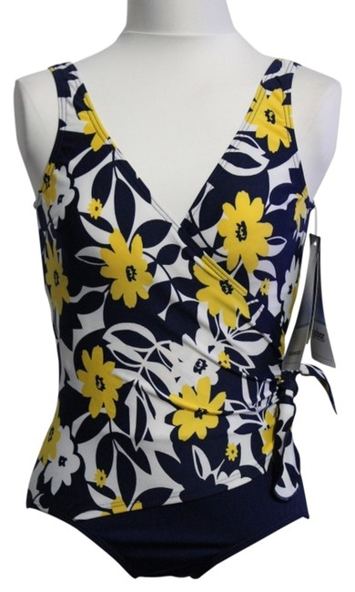Preload https://item5.tradesy.com/images/navy-white-yellow-new-with-tags-swimsuit-one-piece-bathing-suit-size-8-m-3235504-0-0.jpg?width=400&height=650