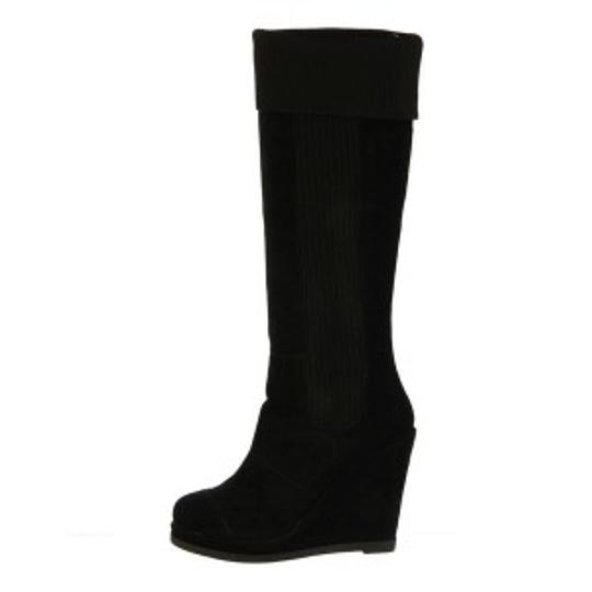 Fergie Black Suede Knee High Boots
