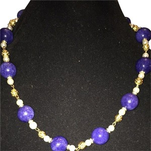 Azar Blue Lapis Pearls necklace