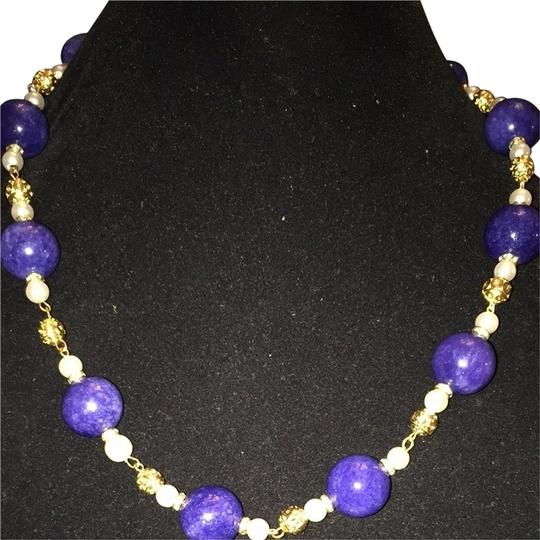 Other Azar Blue Lapis Pearls necklace