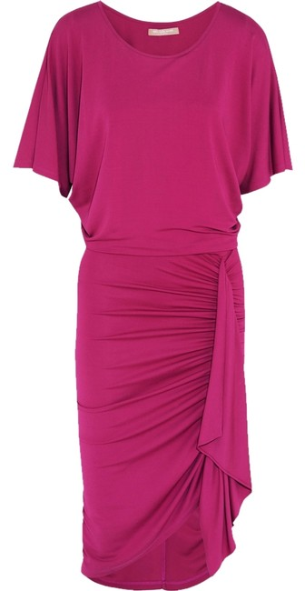 Preload https://item5.tradesy.com/images/michael-kors-peony-ruched-stretch-crepe-knee-length-formal-dress-size-10-m-3235669-0-0.jpg?width=400&height=650