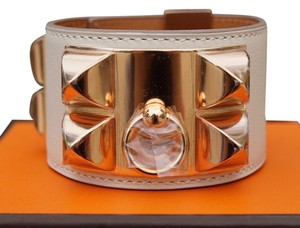 Hermès Hermes Craie Swift with Rose Gold Hardware CDC Cuff Bracelet