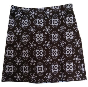 Ann Taylor LOFT Skirt Brown and white