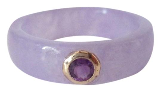 Other .16 Cts Amethyst 14k YG Lavender Jadeite Jade Band Ring