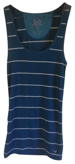 American Eagle Outfitters Striped Elongated Top Teal