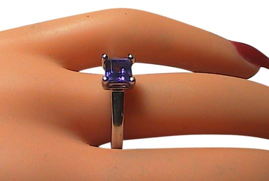 Vintage Sterling Silver .75 cts Amethyst Band Ring