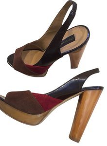 Steve Madden Colorblock Red/Brown Pumps
