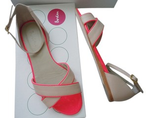 Boden Neon Ankle Strap Colorblock Pink Nude Beige nude/pink Sandals