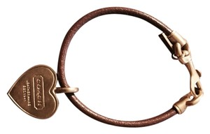 Coach Danity Coach Bracelet With Heart Charm