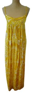 Yellow & White Floral Maxi Dress by Diane von Furstenberg