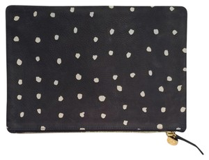Clare V. V Vivier Navy With Cream Mini Dots Clutch