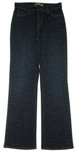 Levi's Back Flap Pockets Zip Fly Boot Cut Jeans-Dark Rinse
