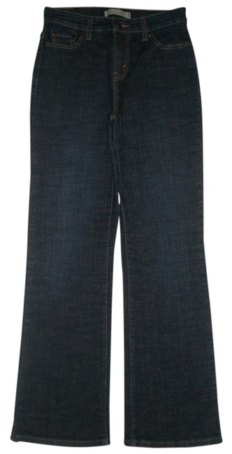Levi's Back Flap Pockets * Zip Fly * Cotton/spandex * Machine Washable * Boot Cut Jeans-Dark Rinse