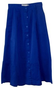 The Eagles Eye Button Front Skirt blue