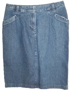 Kim Rogers Skirt Blue Denim