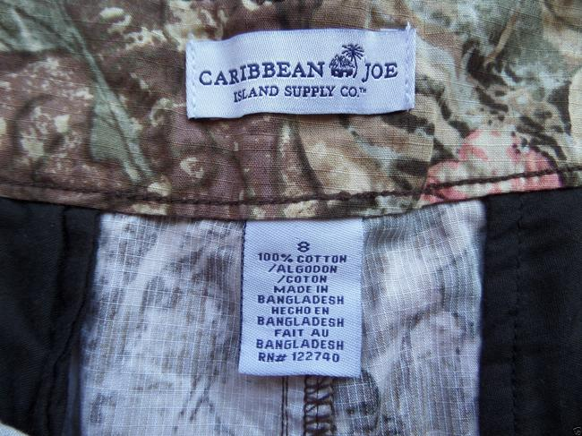 Caribbean Joe Mini/Short Shorts Brown & Pink Floral Print