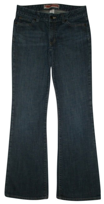 Gap 5 Pocket Style * Zip Fly * Whiskering Detail * Cotton/Spandex * Machine Washable * Curvy Fit * Flare Leg Jeans-Dark Rinse