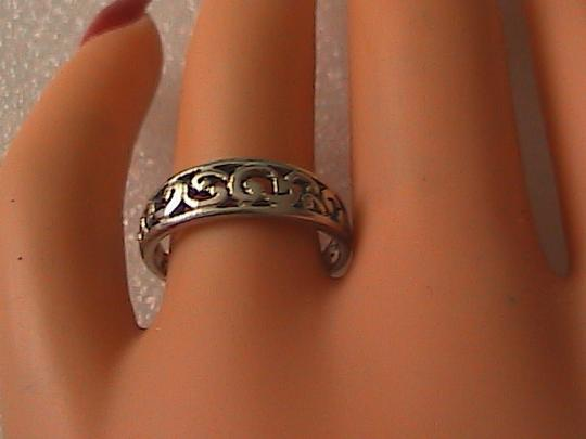 Vintage Vintage Sterling Silver Swirl Band Ring (#5)