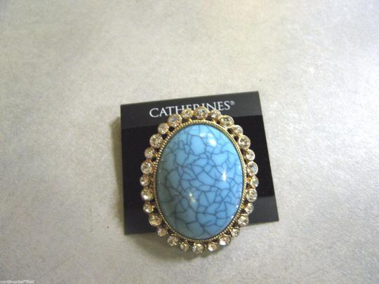 Other 2 Two new rings jewelry ONE SIZE FITS ALL Blue and Turquoise big large