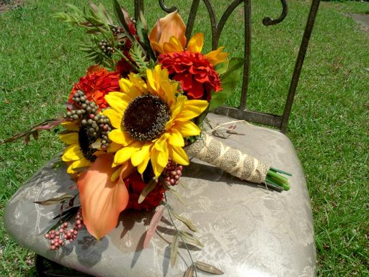 Orange Yellow Sunflower Fall Bouquet Other