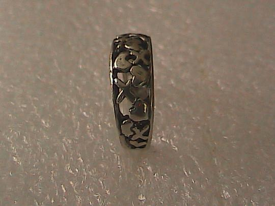 Vintage X Heart Sterling Silver Band Ring