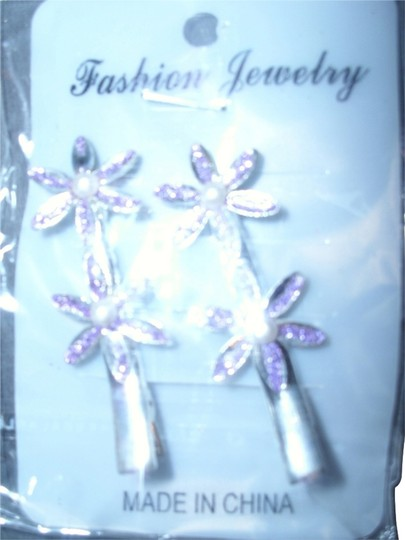Purple palm tree hair clip Purple palm tree bobby pin hair clip just the right amount of glamour
