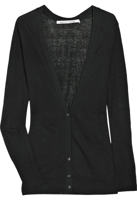 Preload https://item4.tradesy.com/images/black-knitted-linen-cardigan-size-8-m-3238228-0-0.jpg?width=400&height=650