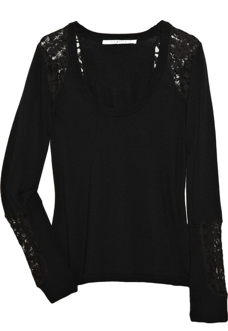 Preload https://item1.tradesy.com/images/w118-by-walter-baker-black-lace-embellished-sweaterpullover-size-10-m-3238315-0-0.jpg?width=400&height=650