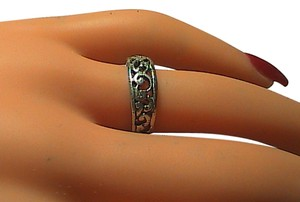 Vintage Sterling Silver Swirl Band Ring (#4)