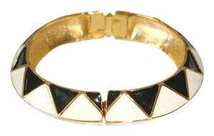 Kenneth Jay Lane kenneth lane gold black and white bangle