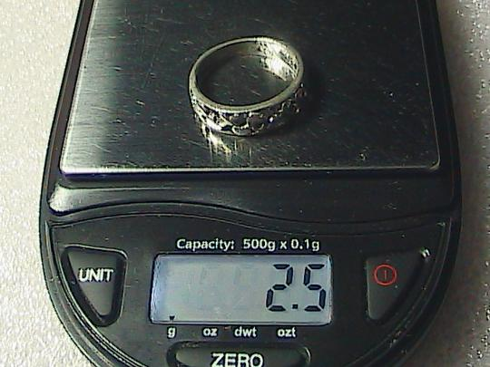 Vintage Sterling Silver X-Heart Band Ring