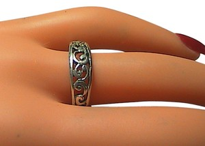 Sterling Silver Swirl Band Ring (#6)