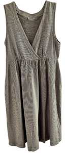 Shimera short dress gray Elastic V-neck on Tradesy