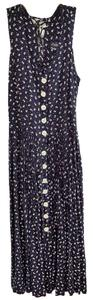 blue-white Maxi Dress by Boutique Europa Rayon Mother Of Pearl