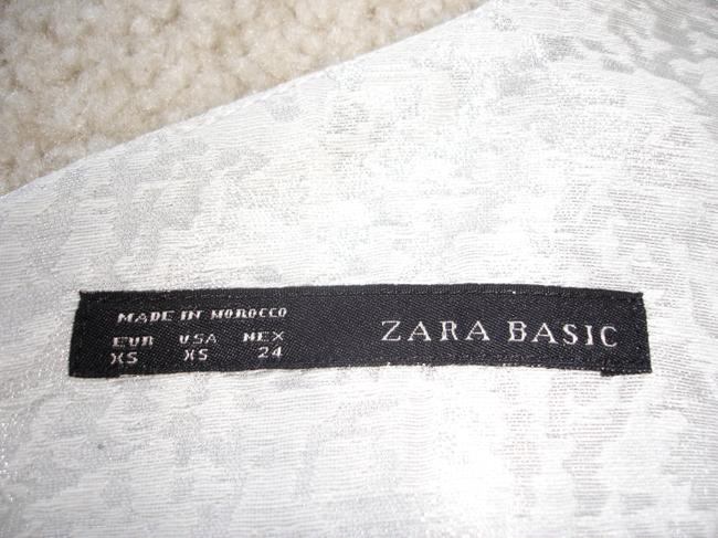 Zara short dress silver Jacquard Cocktail Party Formal Es Jaquard on Tradesy