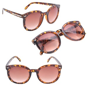 Boutique Retro Arrow Sunglasses (leopard)