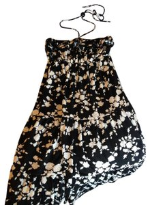 Other short dress Black and White Strapless Halter Floral Flowy Comfortable Summer Lightweight on Tradesy