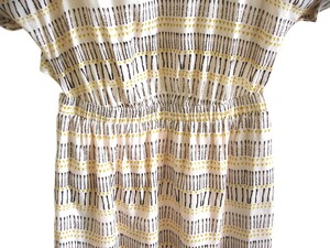 BCBGeneration short dress peach multi Printed Print Elastic on Tradesy
