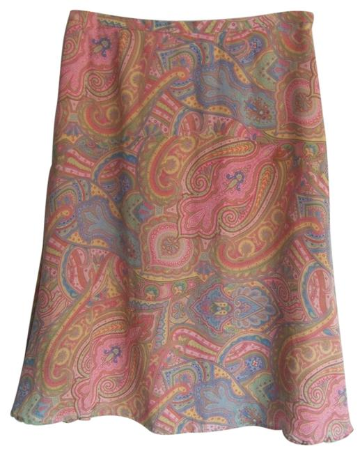 Preload https://item5.tradesy.com/images/liz-claiborne-100-silk-skirt-pink-with-multi-color-geometric-paisley-print-3240319-0-0.jpg?width=400&height=650