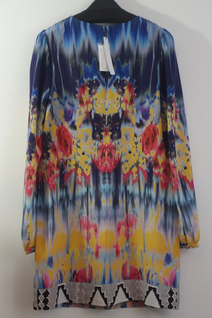 Twelfth St. by Cynthia Vincent short dress Silk Shift Print Boho Bohemian on Tradesy
