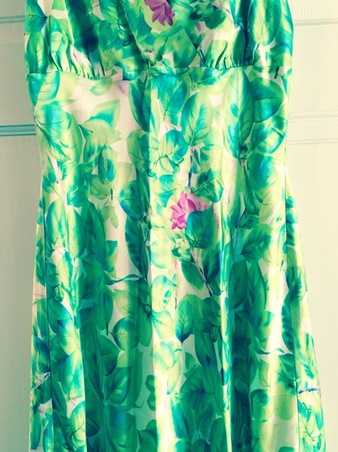 BCBGMAXAZRIA Max Azia Silk Flowers Dress
