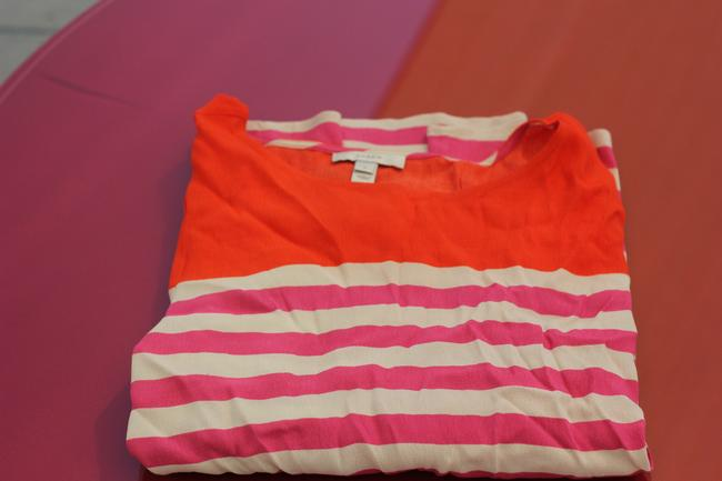 J.Crew Top Orange , Purple and Cream