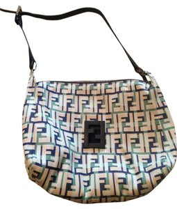 Fendi White Navy Stylish Summer Date Code Genuine Shoulder Bag