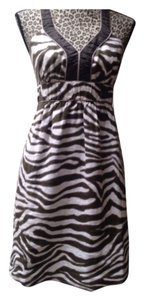 Banana Republic short dress Zebra Print/ Brown/white on Tradesy